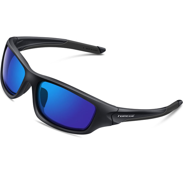 Torege Sport Sunglasses for Cycling Running Fishing Golf UV400 Protection TR011