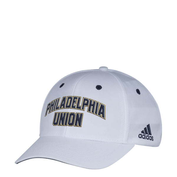 Philadelphia Union Men's White Wordmark Structured Adjustable Hat, One Size, White - Rugby Gear Online