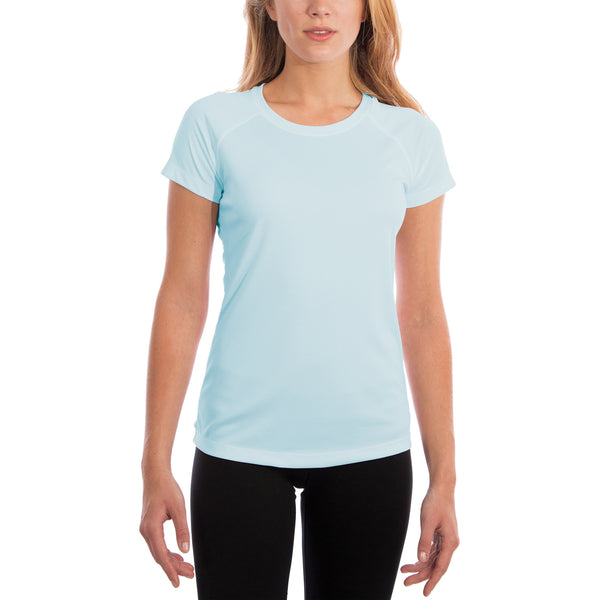 Vapor Apparel Women's UPF 50+ UV/Sun Protection Short Sleeve T-Shirt X-Small Arctic Blue - Rugby Gear Online