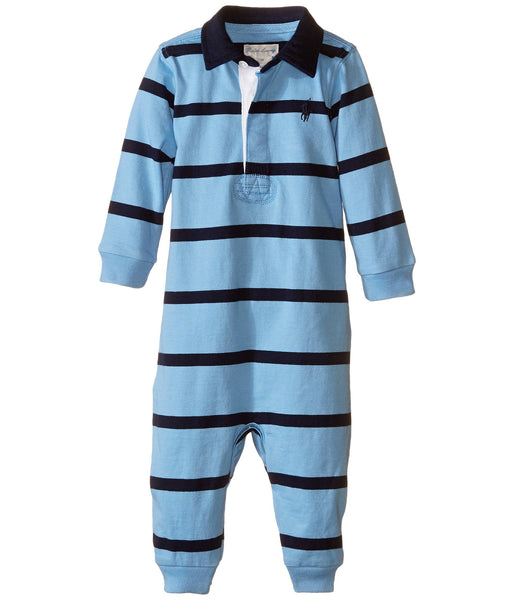 Ralph Lauren Polo Infant Boys Rugby Striped Coverall - Rugby Gear Online