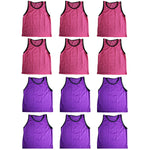 BlueDot Trading Combo Pinnies Vest (Set of 12), Pink/Purple - Rugby Gear Online