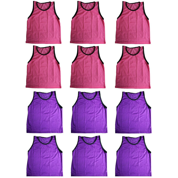 BlueDot Trading Combo Pinnies Vest (Set of 12), Pink/Purple