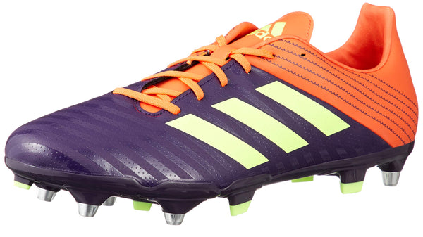 adidas Malice SG Rugby Boots, Orange Purple Size: 7
