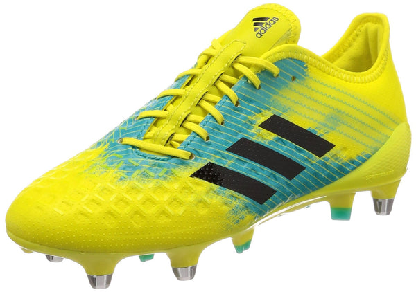 adidas Performance Mens Predator Malice Control Rugby Boots - Yellow - 8.5UK