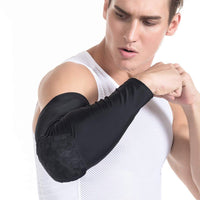 1PCS Honeycomb Sports Elbow Support Pads Training Brace Protective Gear Elastic Arm Sleeve Bandage Basketball Volleyball rugby - Rugby Gear Online