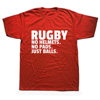 Rugby Player Just Balls Funny T Shirts Men Summer Cotton Harajuku Short Sleeve O Neck Streetwear Black T-shirt