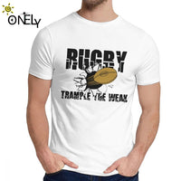 Streetwear Give Blood Play Rugby College Rugby T Shirt For Unisex Crazy 100% Cotton Tee Shirt Classic Round Neck - Rugby Gear Online