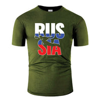 Custom Russia Rugby 2019 Fans Kit For Russian Supporters T Shirt For Men Fitness Fashion Mens T-Shirts Cotton Unique T-Shirt - Rugby Gear Online