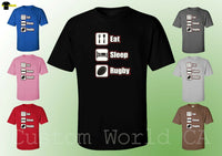 Men T-Shirt - Eat Sleep Rugby New Design Men Tee