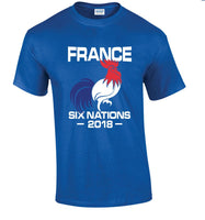 Six Nations 2018 T Shirt Rugby England Wales Scotland Ireland Italy France Cool Casual pride t shirt men Unisex New Fashion