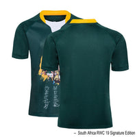 2019 2020 SOUTH AFRICA RUGBY HOME AWAY TRAINING SINGLET JERSEY Size:S-5XL - Rugby Gear Online