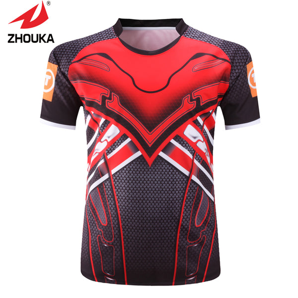 Custom Personalized  100% Polyester High Quality Unique  Men's Rugby Jerseys