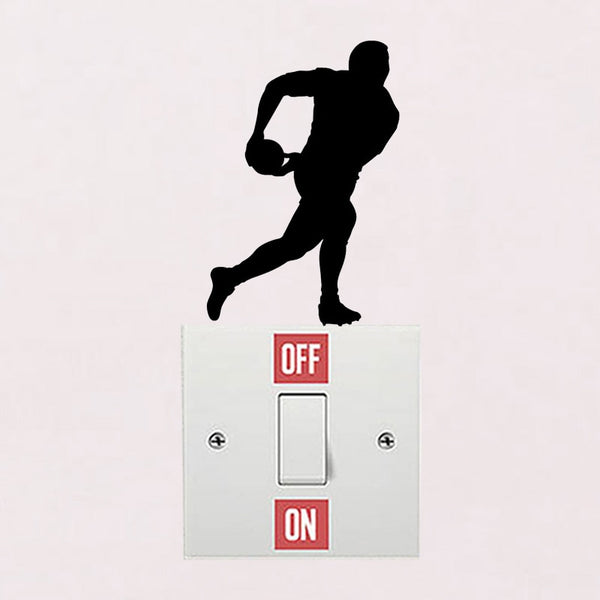 Rugby Player Wall Switch Stickers - Rugby Gear Online