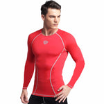 Men's Long Sleeve Compression  High Elasticity T-shirt