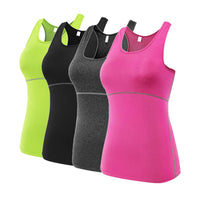 Womens Sports  Tops Waistcoat - Quick Dry Fit