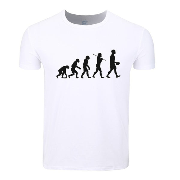 Asian Size Men Print Evolution of Rugby T-shirt - Rugby Gear Online