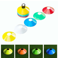 50pcs/Set Soft Disc Football Training Sign Dish Pressure Resistant Cones Marker Discs Marker Bucket PVC Sports Accessories
