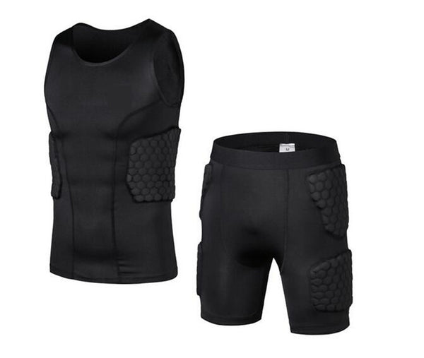 Body Protector Shorts and Vest - Honeycomb Sponge Anti Crash Sport Pads - Rugby Gear Online