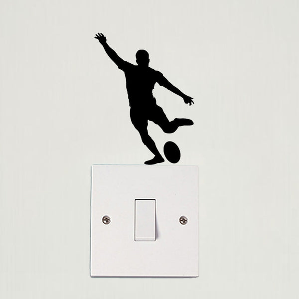 DIY 3d Rugby Player wall stickers for kids rooms
