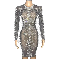 STATEMENT BEDAZZLED DRESS