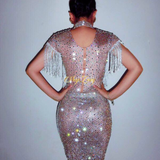 RELIEF RHINESTONE DRESS