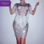 'Relief' Rhinestones Dress