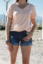Light Boyfriend Distressed Shorts