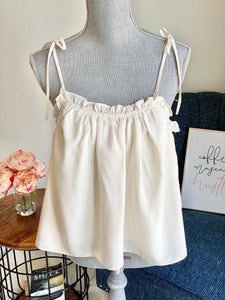 Cream Baby Doll Top