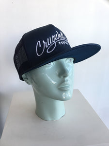 Navy Trucker Hat Script - Cruzwell Mfg