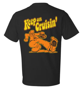Keep on Cruisin Tee (blk/orange) - Cruzwell Mfg