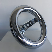 "9"" Chrome Donut Steering - Cruzwell Mfg"