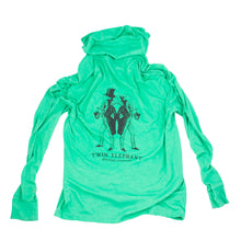 Dapper Elephants Long Sleeve Hooded Shirt