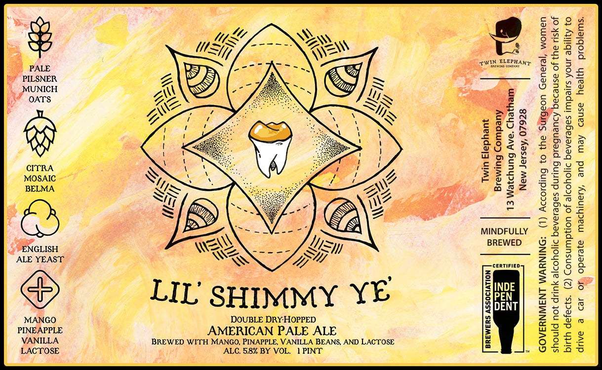 Lil' Shimmy Ye': Mango, Pineapple & Vanilla Bean - Four Pack