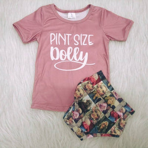 Pint Size Dolly Top W/ Matching Bummies