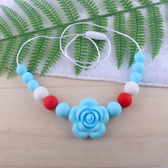 Baby Silicone Floral Teether Necklace