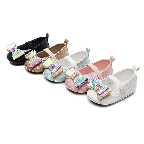 Cheery Sequin Bowknot Soft Sole Sandals