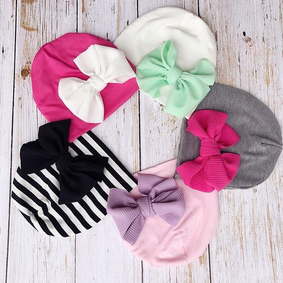 Baby Turban Messy Bow Beanie