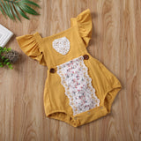 Floral Lace Fly Sleeve Betty Sunsuit