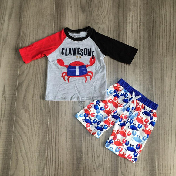 Clawesome Crab Top W/ Matching Beach Shorts