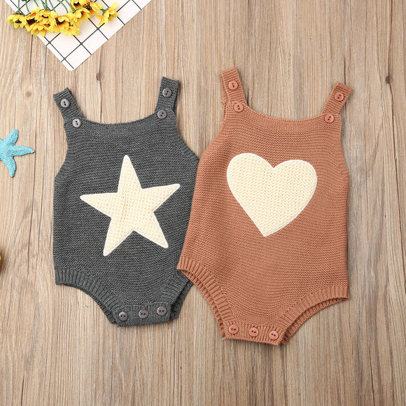 Knit Heart & Star Bodysuit