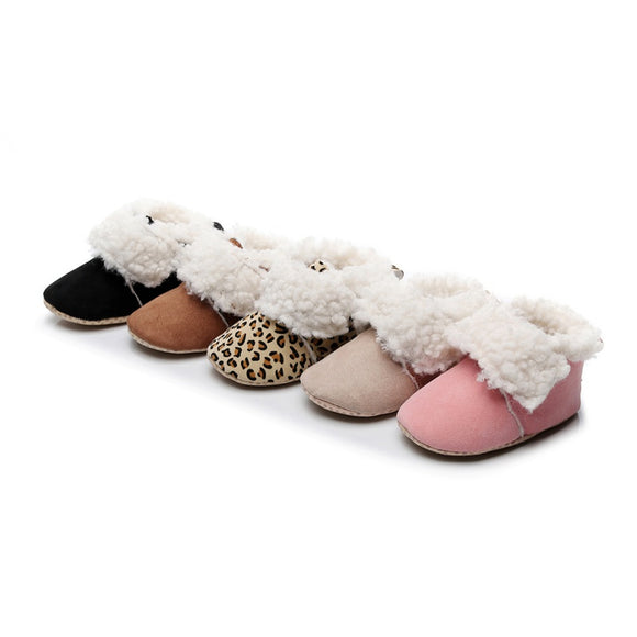 Warm Plush Fluffy Baby Booties