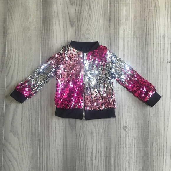 Sequin Zipper Wind Breaker