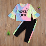 More Love Tie Dye Petal Sleeve Top W/ Matching Pants