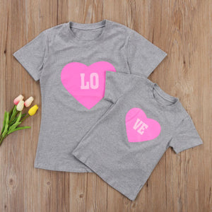 Mother & Daughter Matching Love Shirts