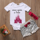 Once Upon A Time Bodysuit W/ Tassel Shorts & Headband