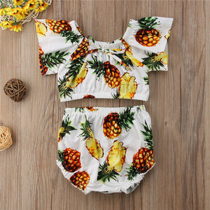 Pineapple Off Shoulder Sunsuit