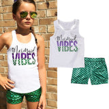 Mermaid Vibes Tank Top W/ Matching Shorts