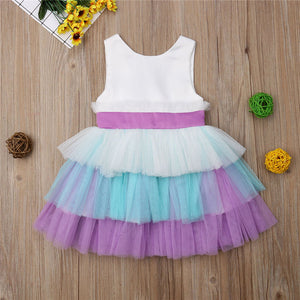 Layered Tutu Mini Bowknot Dress