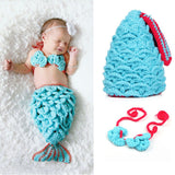 Newborn Mermaid Tail Photo Prop Outfits