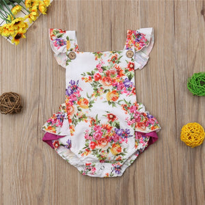 Big Sister Little Sister Matching Purple Floral Sunsuit & Outfit Set